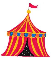 gemaltes Zirkuszelt